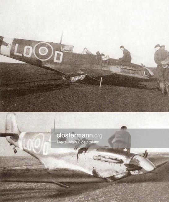 Iles-Orcades-en-1944-atterrissage-train-rentré-du-Spitfire-LO-D-de-Pierre-Clostermann.jpg