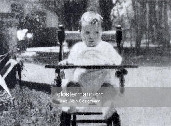 Pierre Clostermann à huit mois au Parque do Flamengo
