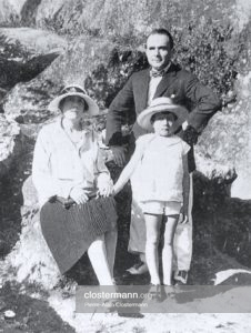 Pierre Clostermann et ses parents Jacques et Madeleine Carlier