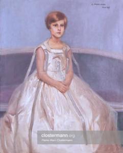 Sybille de Bettencourt à l'âge de 8 ans par Candido Portinari (Rio, 1928)